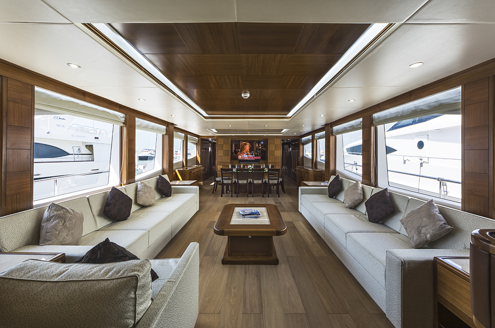 main saloon yacht