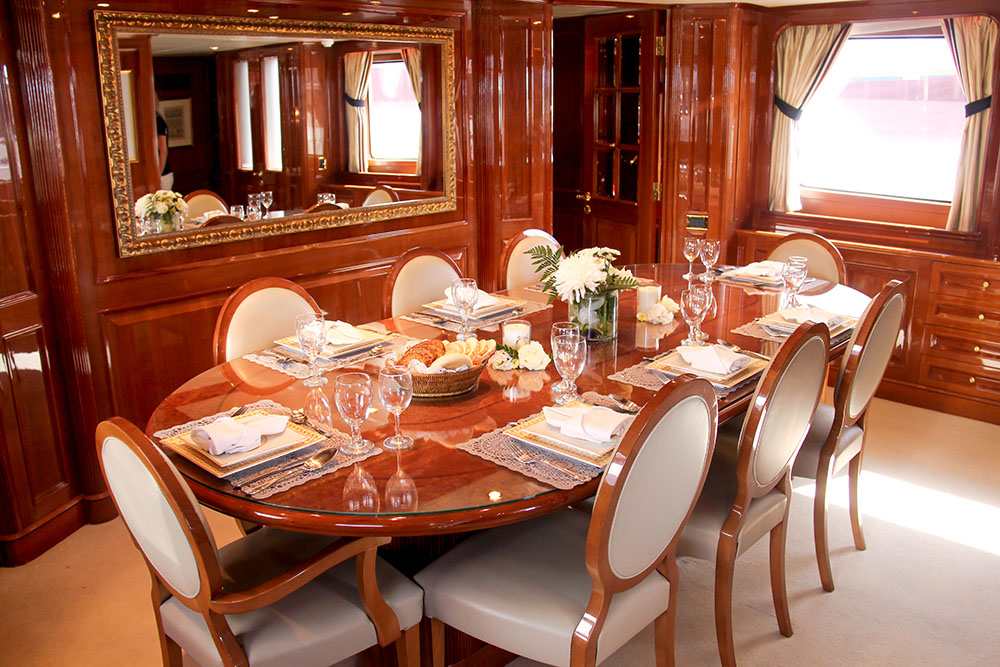 Luxury yachts exude luxury and beauty whilst providing all comforts