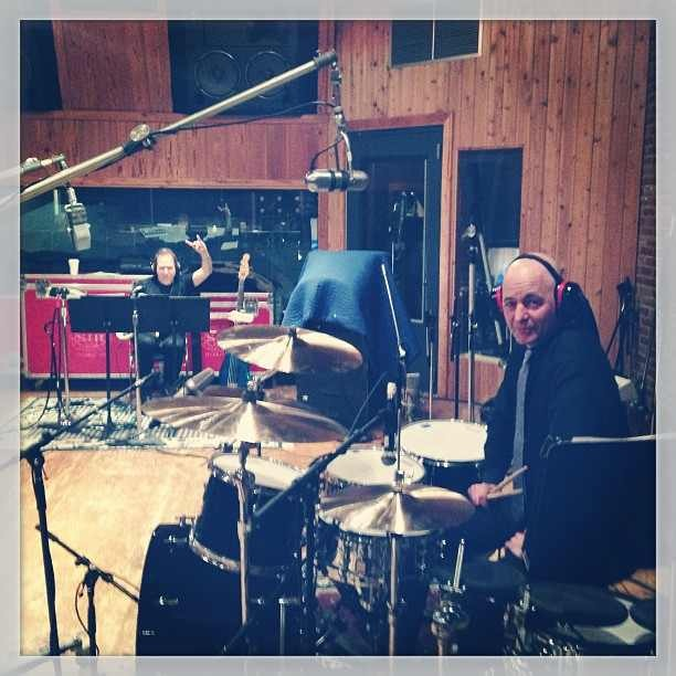 Kinky Boots Original Cast Recording - At the studio with Mike (bass) and Sammy (drums)