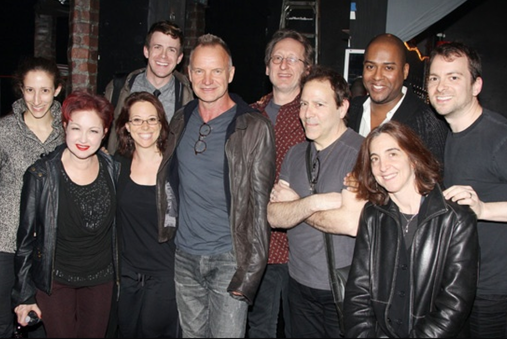 Kinky Boots band backstage with Sting. Photo by Bruce Glikas