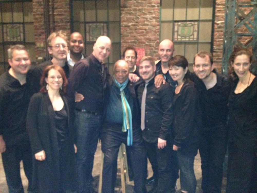 Kinky Boots band Backstage with Quincy Jones