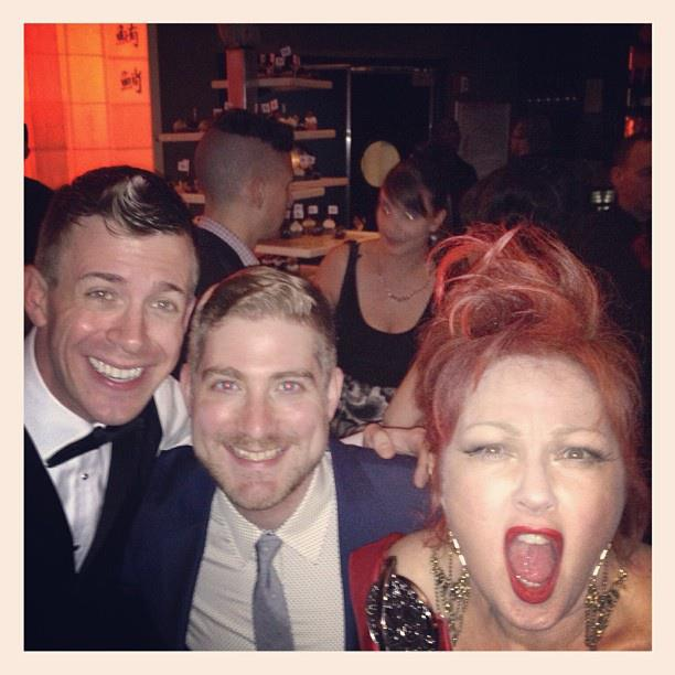 2013 Tony Awards After-Party. Brian and Will with Cyndi Lauper celebrating her big win for Best Original Score!