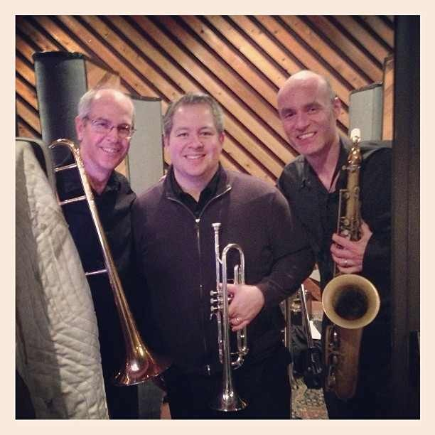Original Cast Recording - Keith (trombone), James (trumpet) and Dan (reeds)