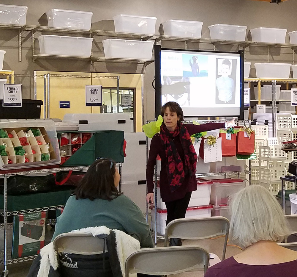 imparting holiday organizing tips at storables nov 4 2017.jpg