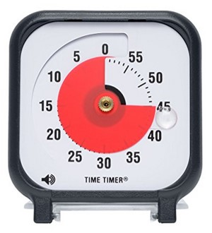 A Time Timer is a powerful tool for showing how much time you have and keeping you on schedule.