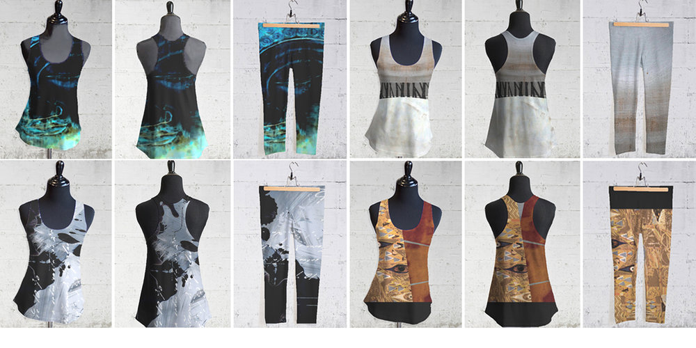 Custom designed racerback yoga tops and capri leggings