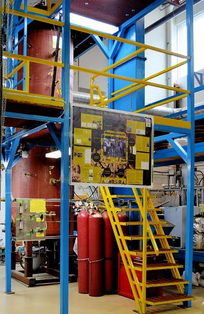大型木制颗粒储存装置用于排气和自加热研究