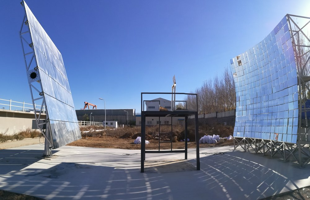 High-convergence solar thermal demonstration facility