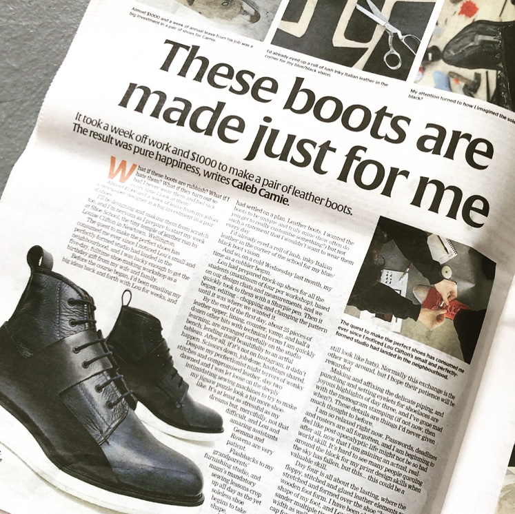 I was a cobbler for a week and I am chuffed with the boots I made - Stuff, Life & style. By Caleb Carnie. 5th Sep 2018