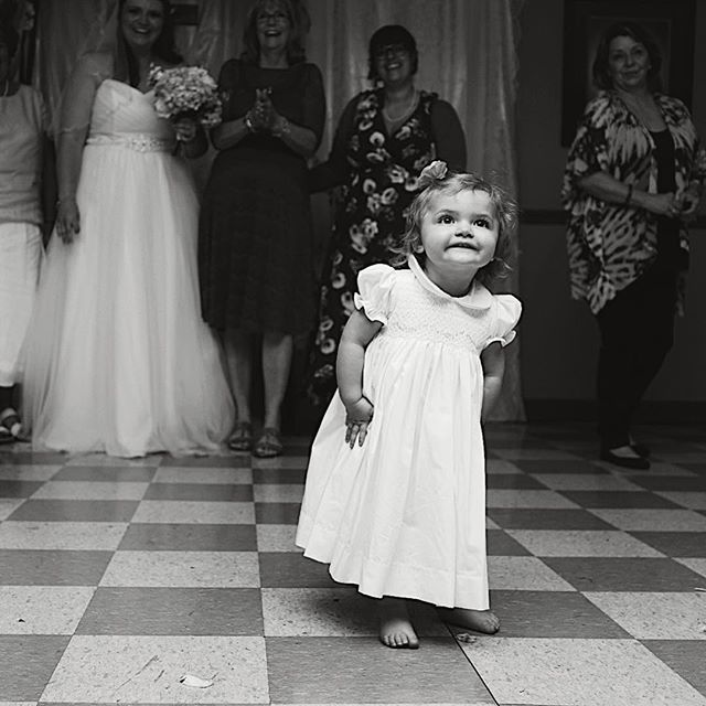 Sweetest little girl at Chris and Sarah's  wedding. #wedding photography #nashville #tn #blackandwhite #nashvillewedding #tennesseeweddingphotography