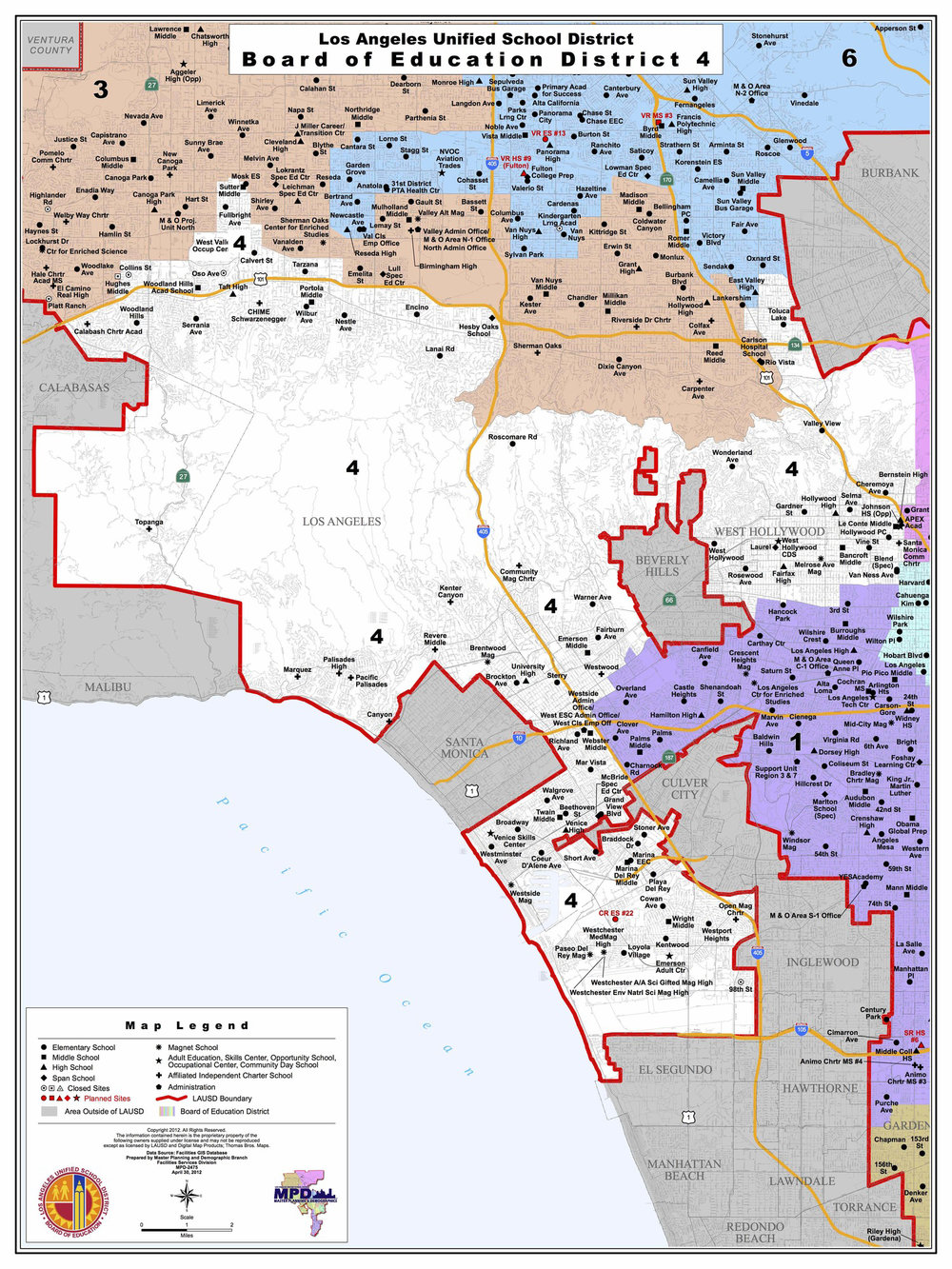 Board District   Nick Melvoin For School Board - Los angeles map westwood