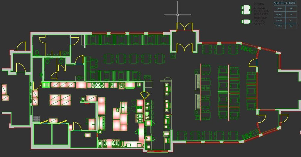 2D Floor Plan generated from AutoCAD Plant-3D data model