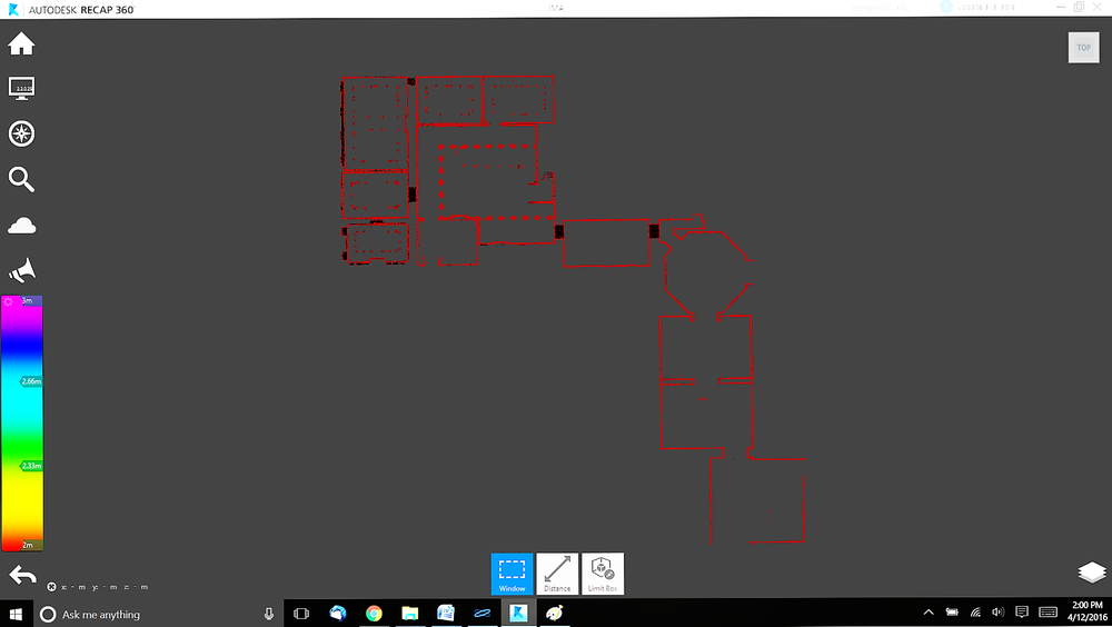 point cloud data basis for 2D Floor plan