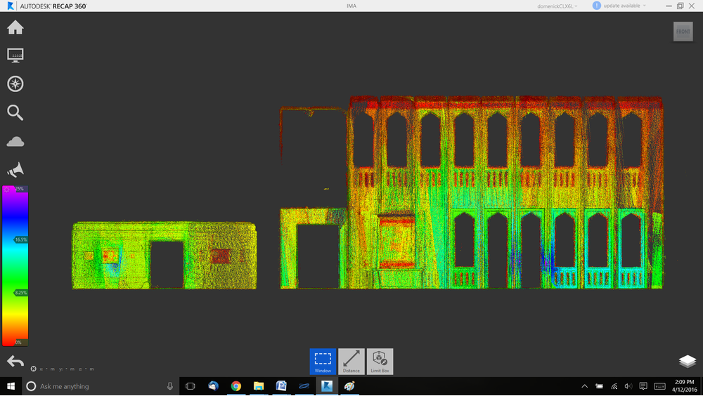 point cloud data basis for 2d elevation