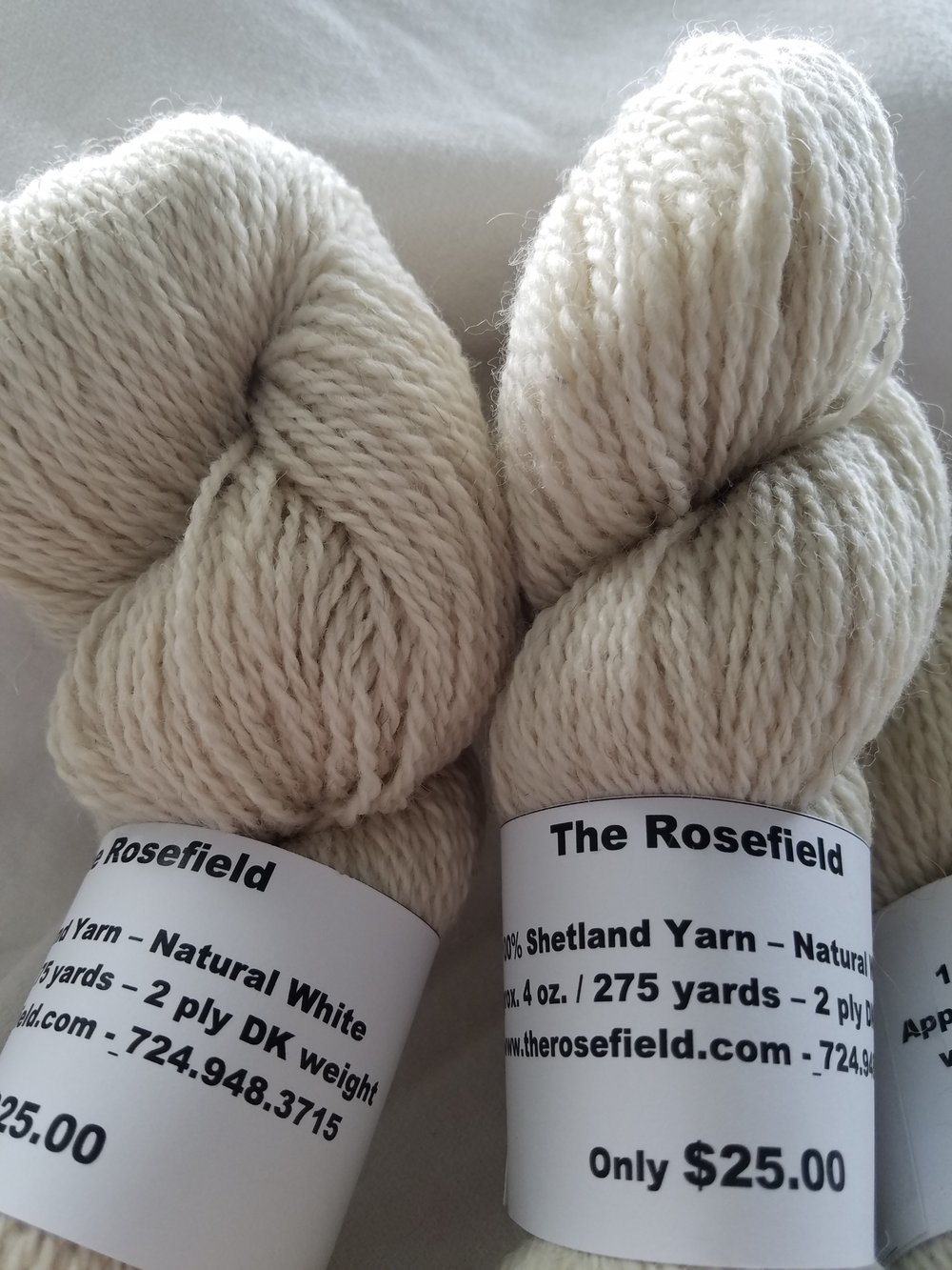 11. White Shetland 2 ply DK weight