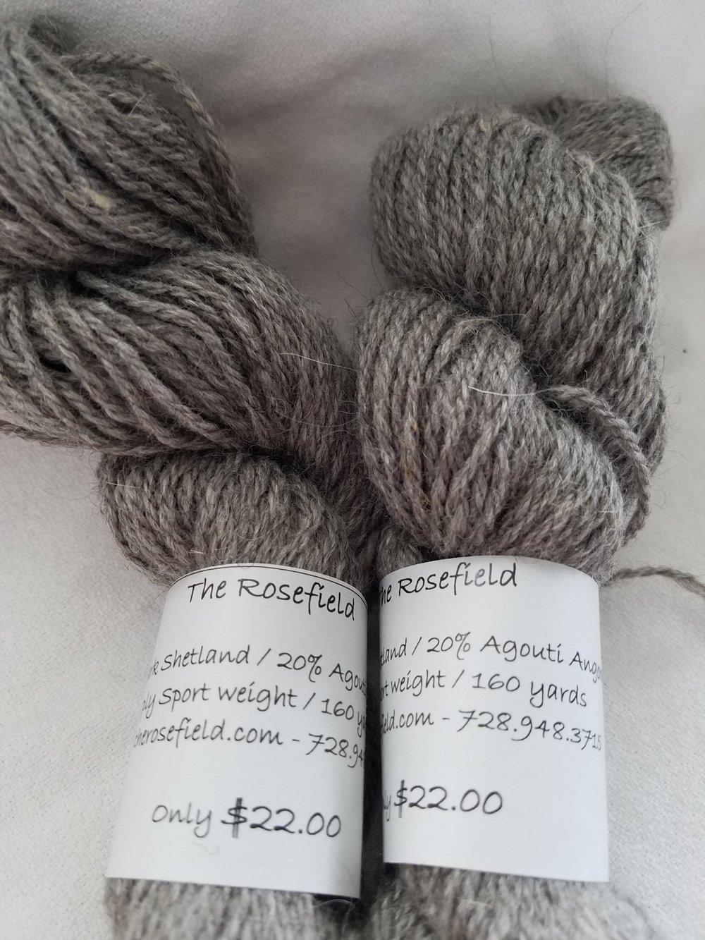 12. Dk Shetland/Agouti Angora Sport weight