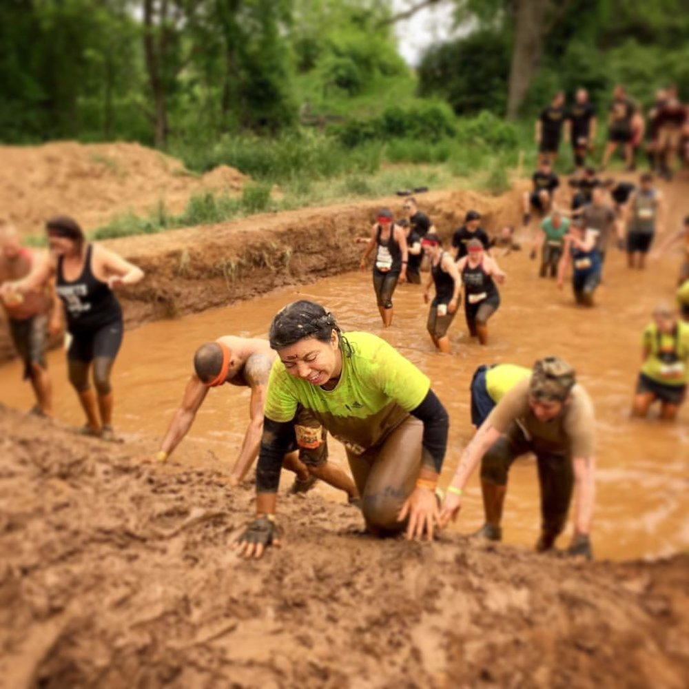 Clay as obstacle, Tough Mudder 2017