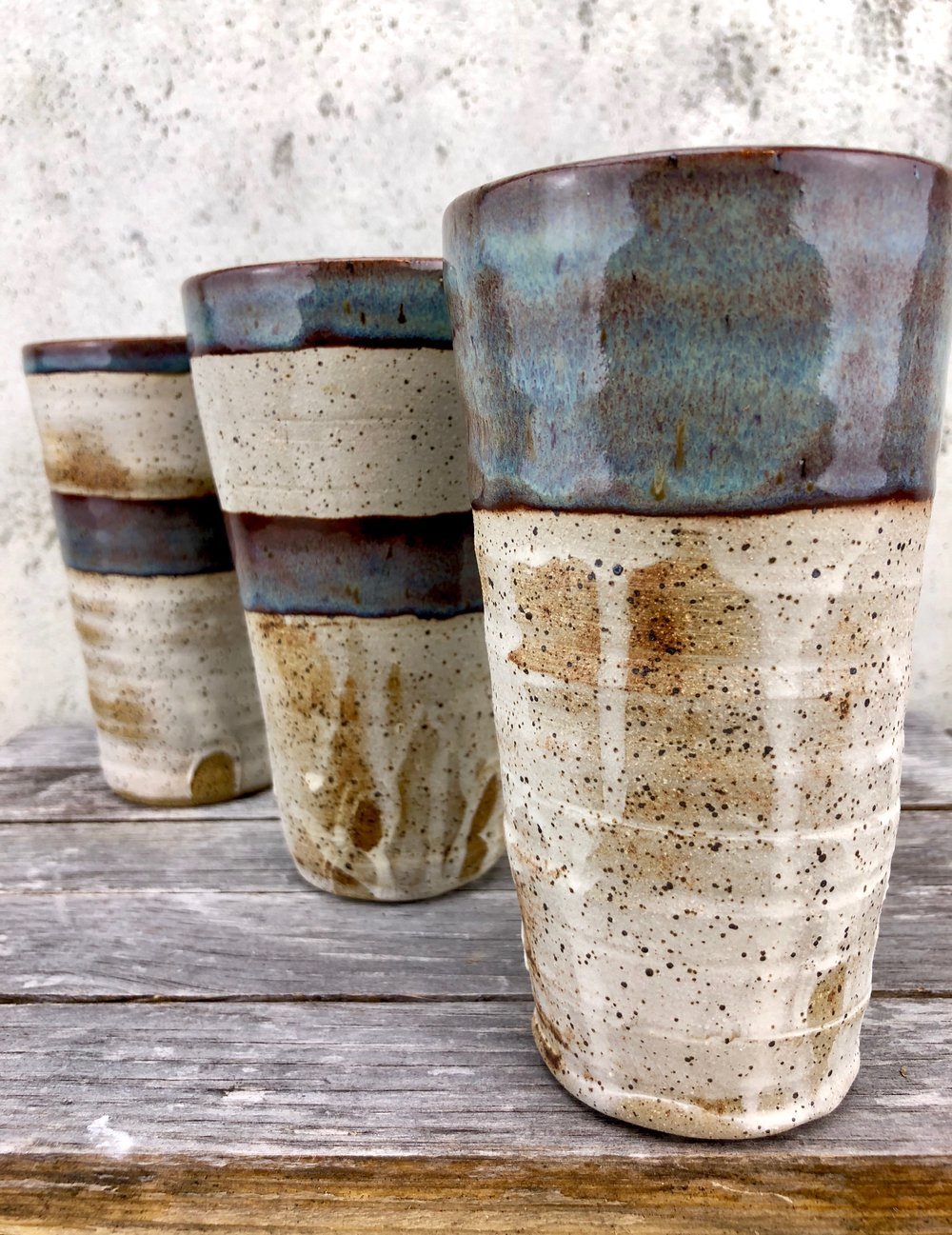 A trio of tumblers