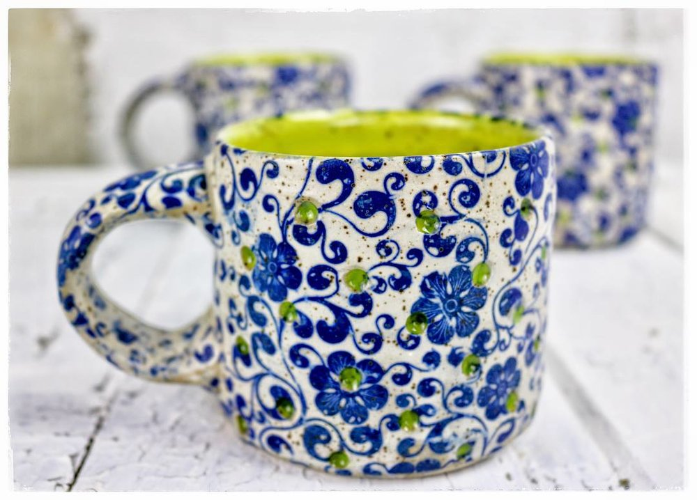 blue floral mug with chartreuse.jpg