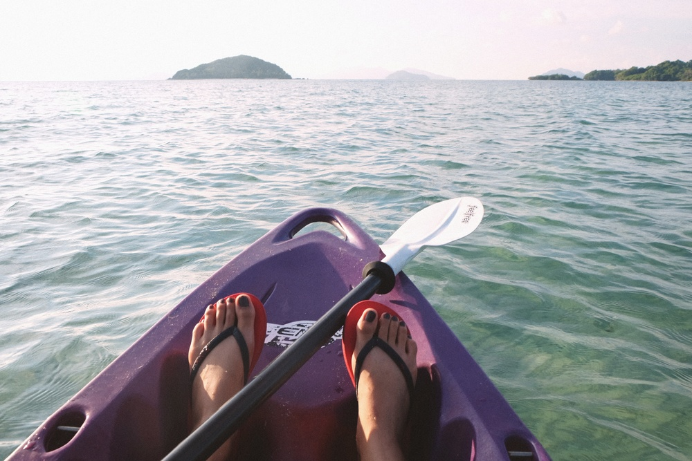 Kayaking combines aerobic exercise and strength building - and mindfully floating around on water can be a new way to relax. Have you tried it?