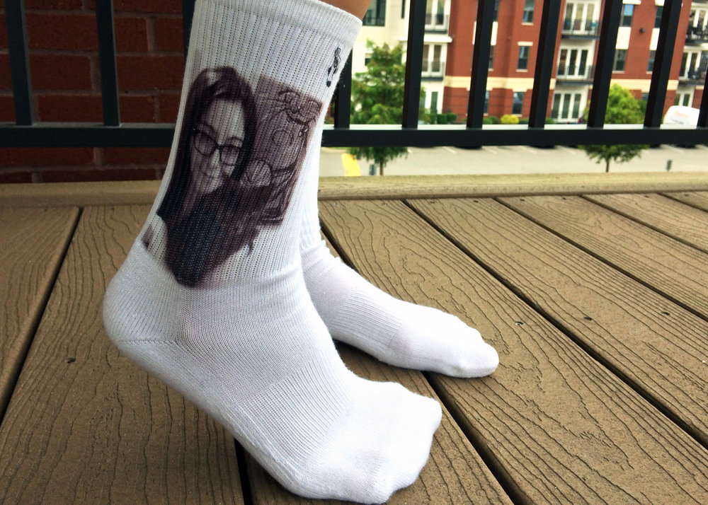 "Twinkle & Co. Socks - Custom ""Selfie"" Crews, Photo Credit: The Sock Review"