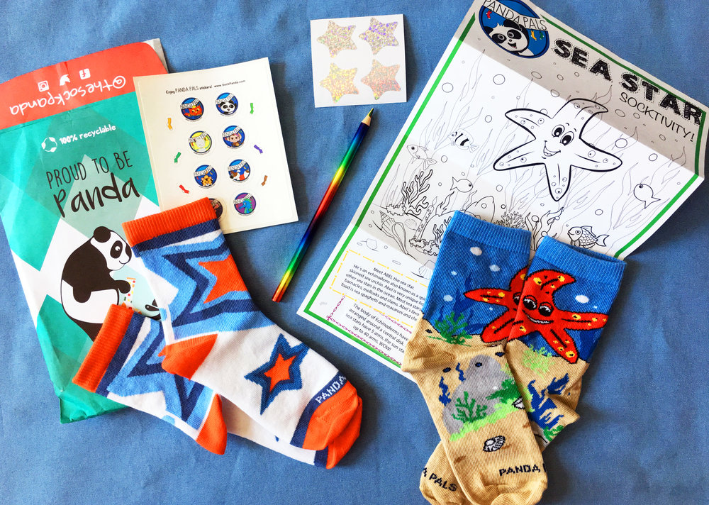 A peek at another themed learning package, featuring Abel the Sea Star - Super Cute and makes learning fun! Photo Credit: The Sock Review