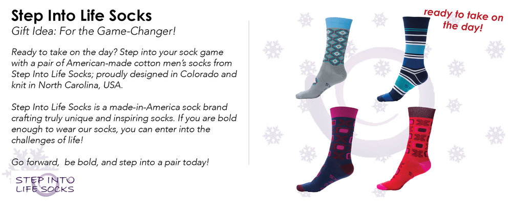 Photo Credit: Step Into Life Socks - Shop the Look:  Step Into Life Socks Website