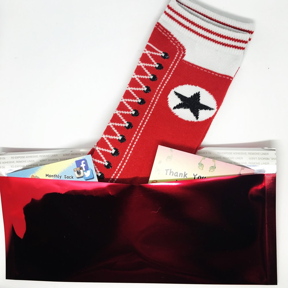 Sending Socks - What fun it is to receive a package in the mail - and what more fun it is to be helping someone else in need. Sending Socks does just that, as they donate 1 pair of socks for each subscription sign-up. You may recognize them from their shiny red envelope and sock images on Instagram @sendingsocks. Read more, here.