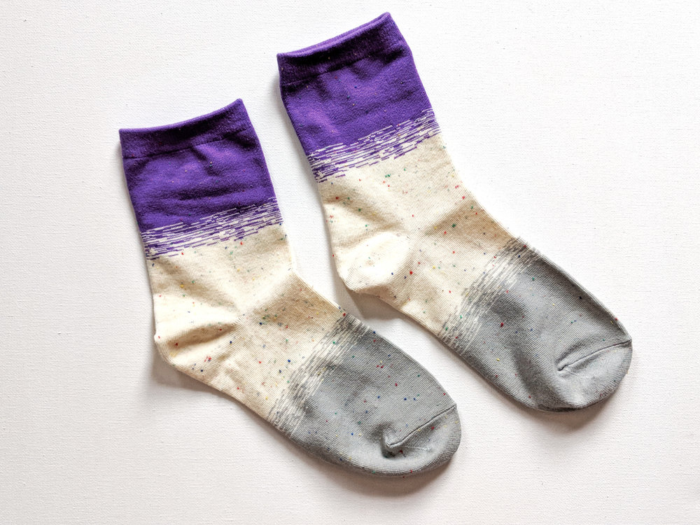 "Sockamore's ""Tea & Tekla"" sock style, which we love! - Photo Credit: The Sock Review"