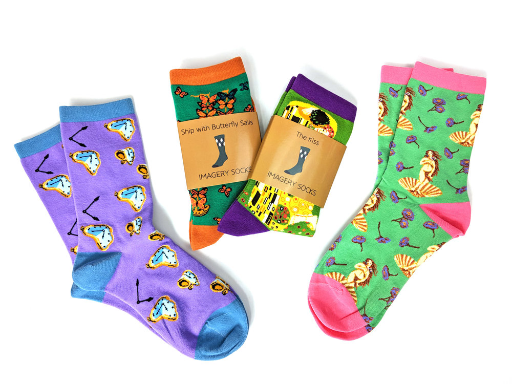 Imagery Socks shown in packaging - Photo Credit: The Sock Review