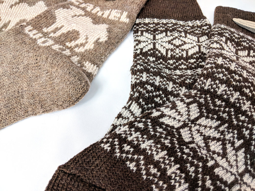 A close-up of the beautiful detailing in the sock - Photo Credit: The Sock Review