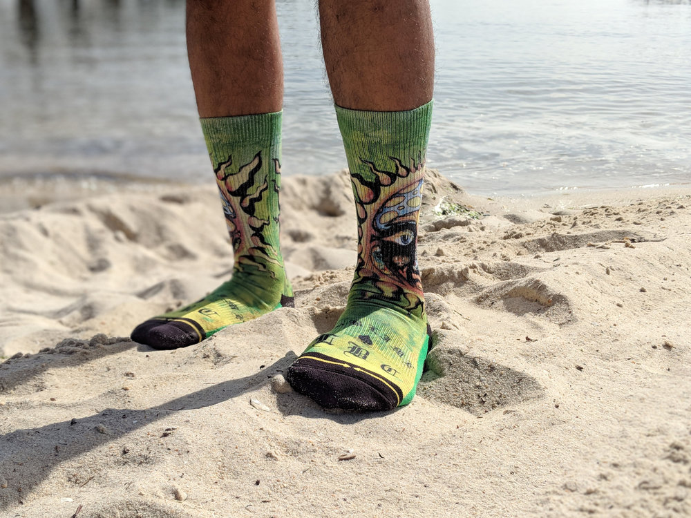 """Sublime Sun"" style, from the Music Collab collection, available online & select shops - Photo Credit: The Sock Review"