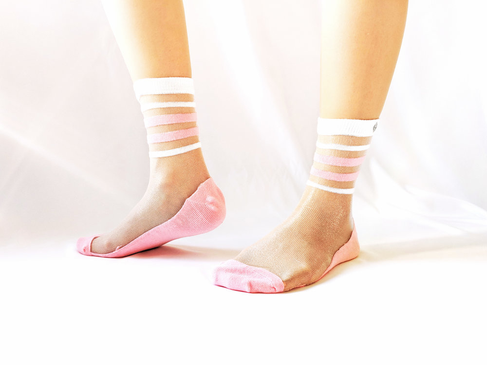Sheer bliss right here - We love the Crystal look that's perfect for hot summer days - Photo Credit: The Sock Review