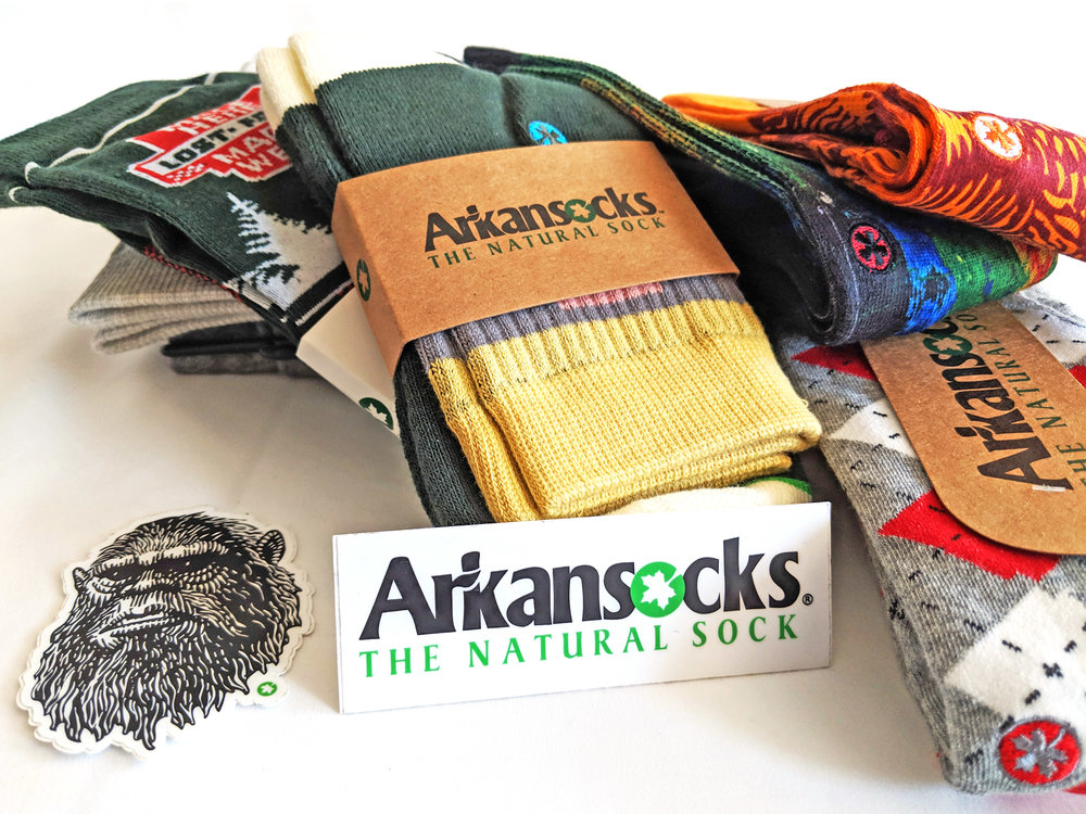 Arkansocks offers state-inspired patterns - check out the styles below!
