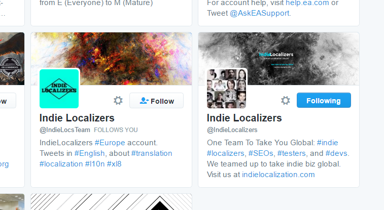 And this is a Twitter search results page; the website and email are readily available