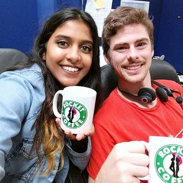 Happy Thursday from Masha and Jimmy AKA Team Recruitment AKA Team Rocket! ❤ These 2 work tirelessly, speaking with job seekers to find the best fundraising talent in both Australia and New Zealand! #publicoutreach #lifeatpublicoutreach #POfamous