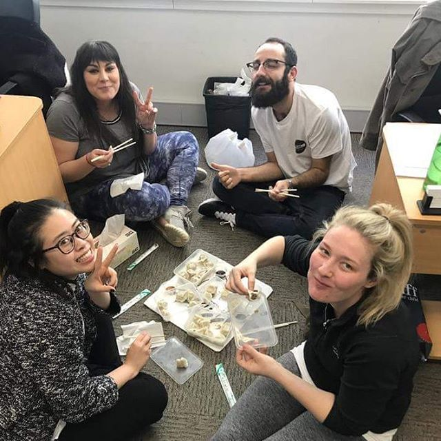 Team Sydney loves a good office picnic with some delicious dumplings! 😄🍜 #reppinpo #publicoutreach #publicoutreachpals #POfamous  #LifeAtPublicOutreach