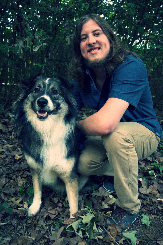 RJ with his dog, Apollo