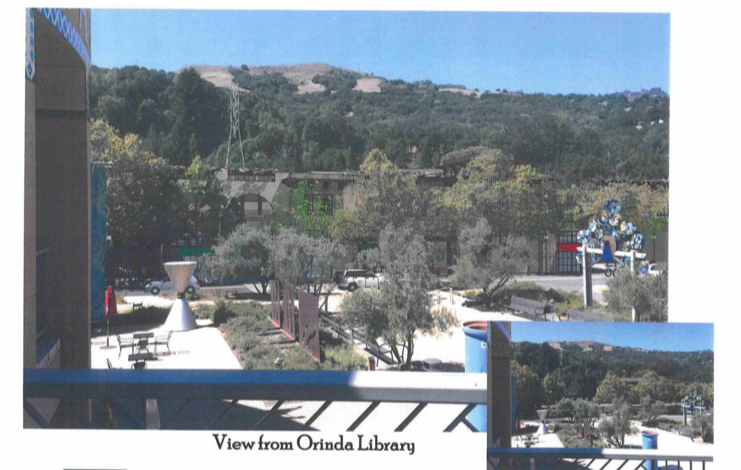 View of the proposed development from the Orinda Library