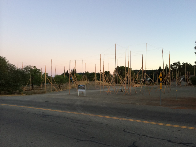 An example of story poles from a project in Moraga