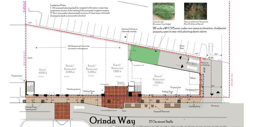 The bird's eye view of the plans for 25A Orinda Way.