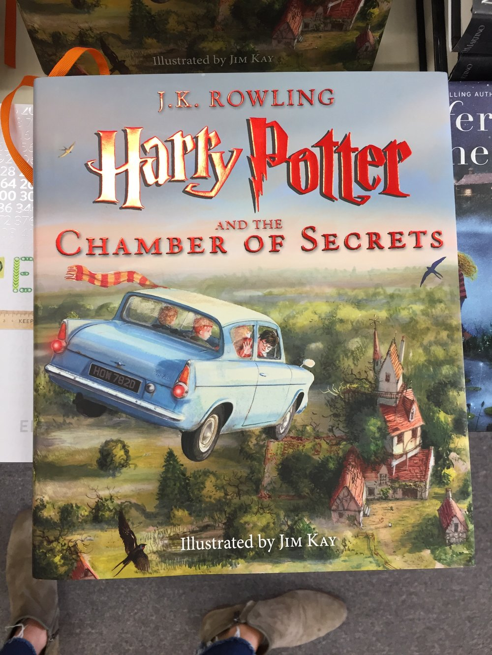 For the Harry Potter lover, beautifully illustrated. $39.99