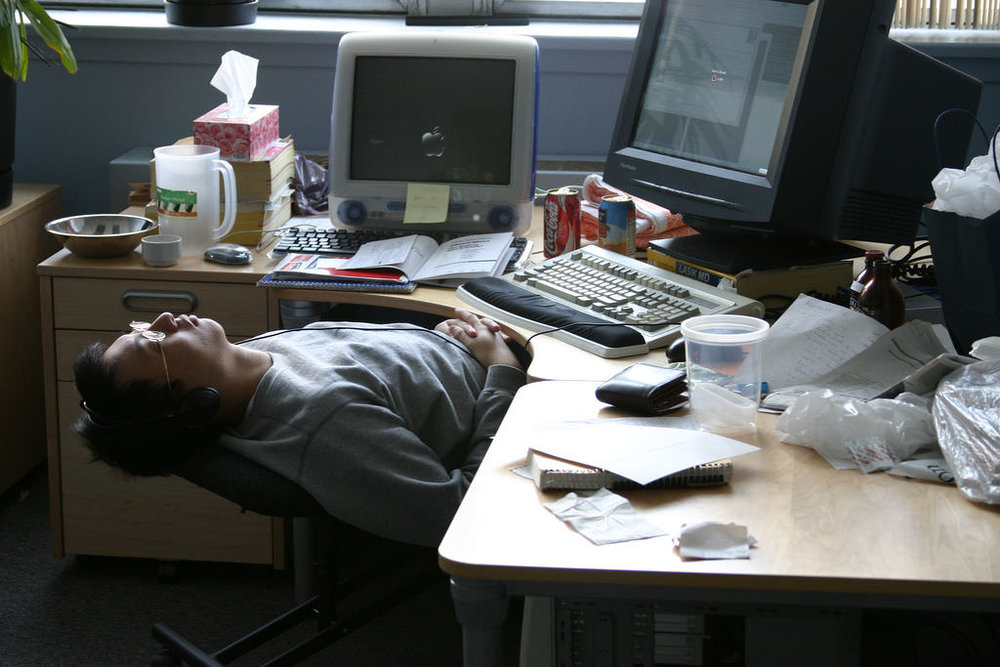 Employees sleeping on the job may not be engaged workers nor the most productive.