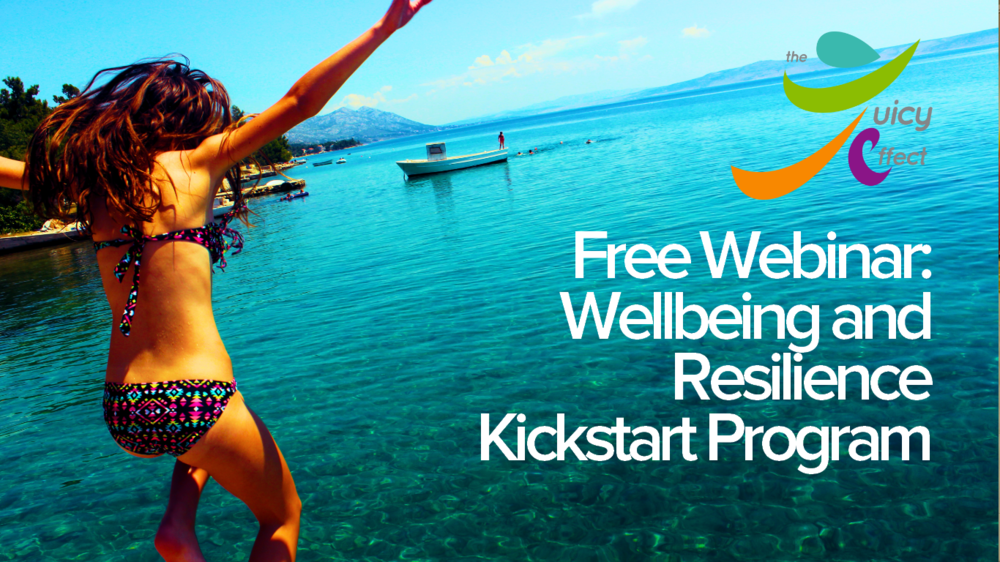- Welcome to your FREE wellbeing & resilience kickstart program. In less than 40 minutes, you will have the knowledge you need to reclaim control of your own wellbeing journey.To know more about the Juicy Effect, click here.