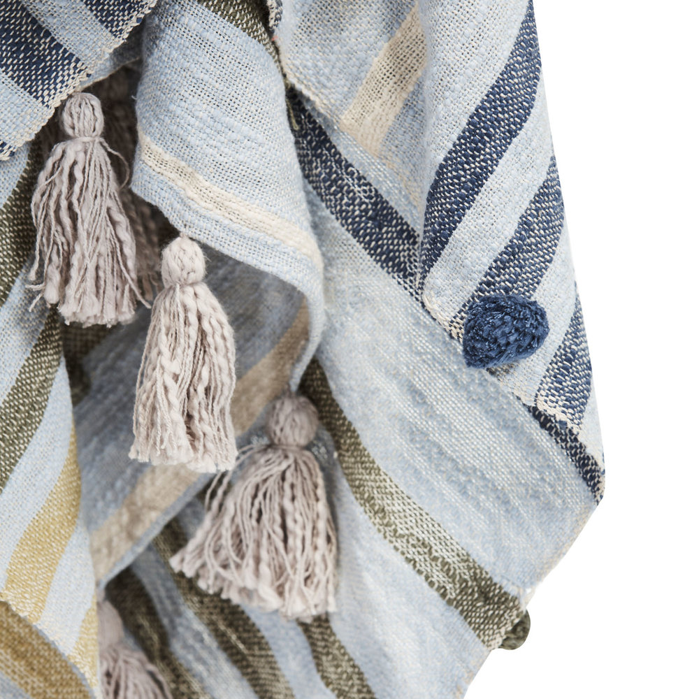 indira striped throw  -