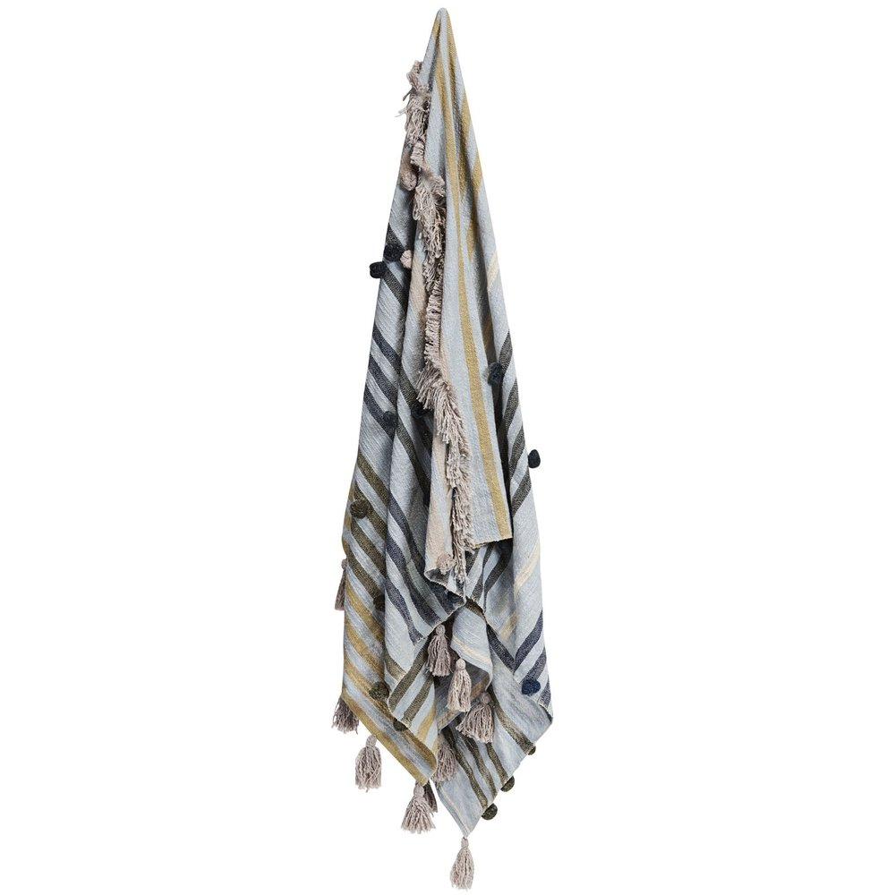 indira striped throw - beautifully hand woven