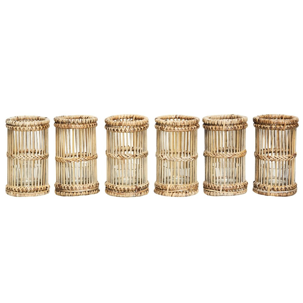 pavillion shadow candle holder set/6 -