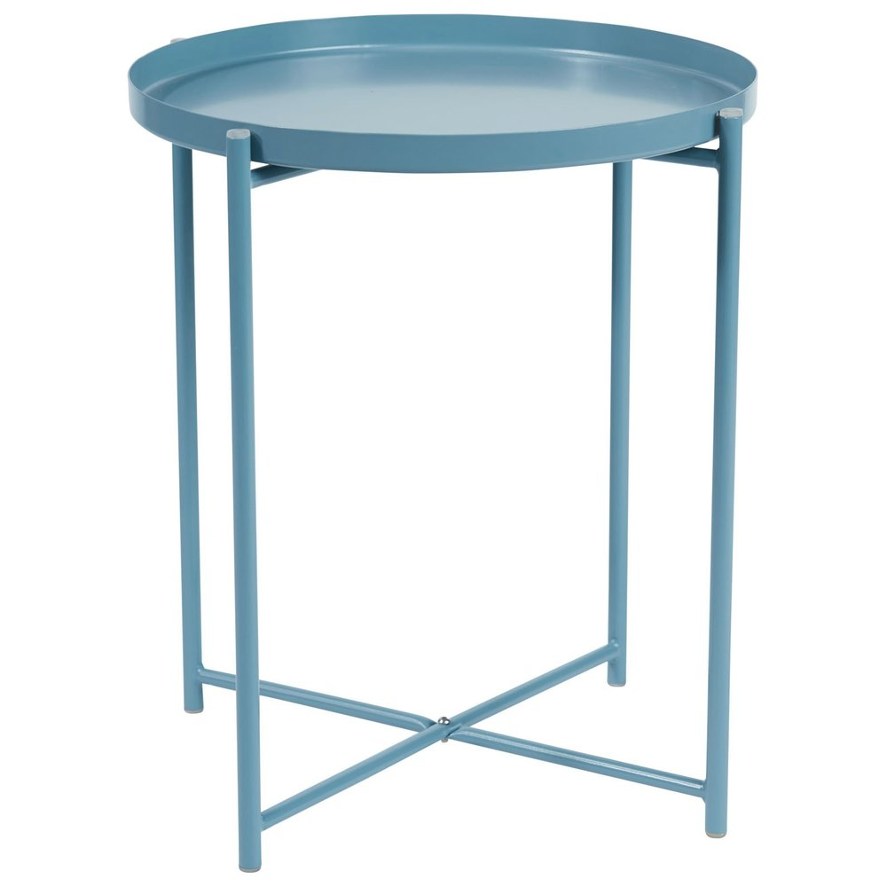alto round tray lamp table blue -