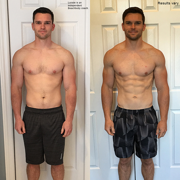 """Lonnie lost 4.6 pounds in 60 days with The Master's Hammer and Chisel and won $2,000!    """"  I have seen my strength go up similar to the way it does in body beast but without putting on so much extra weight. My legs are built and toned more than they ever have been and my calisthenic strength/endurance is very high as well."""""""