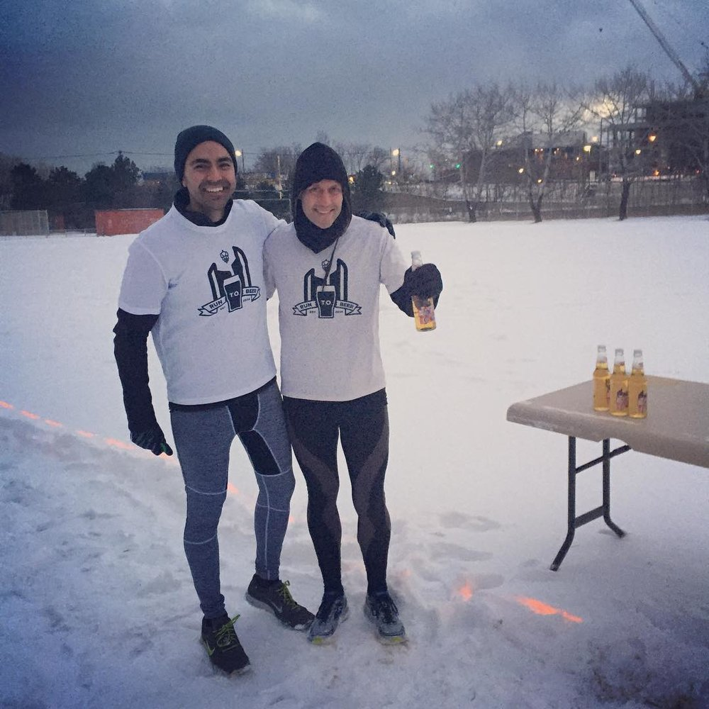 Co-Founders TEJ SANDHU and DAN GRANT  celebrated the club's 2nd anniversary with the Inaugural Founder's Classic Beer Mile, March 2, 2016